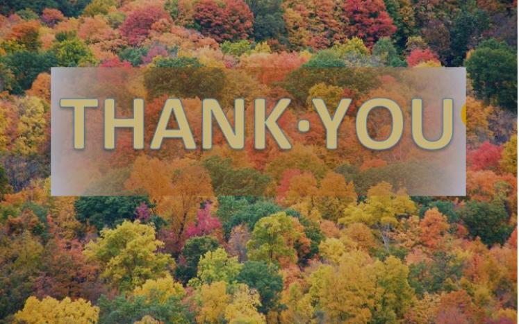 thank you with fall background